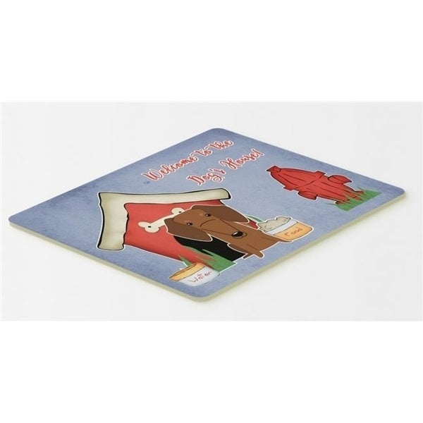 Carolines Treasures BB2884CMT Dog House Collection Dachshund Red & Brown Kitchen or Bath Mat 20 x 30