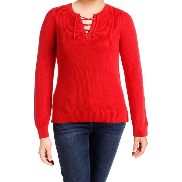 Shop Lauren Ralph Lauren Womens Halter Sweater Tie Front Ribbed Knit - xL -  Free Shipping On Orders Over  45 - Overstock.com - 22581943 83cca973c78