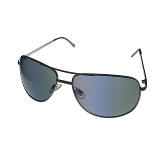 Perry Ellis Sunglass PE22 4 Mens Gunmetal ( Metal ) Aviator, Solid Green Lens - Medium