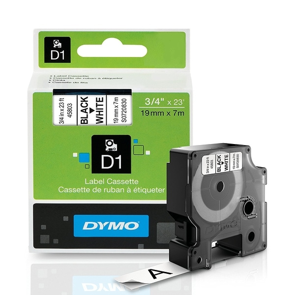 Dymo 45803 Standard D1 Labeling Tape For Label-Manager 3/4'' W X 23' L