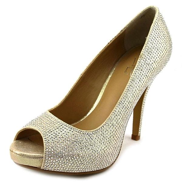 Thalia Sodi Selia Women Peep-Toe Canvas Heels