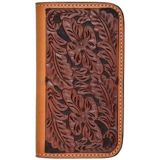 Tony Lama Cell Phone Case Leather Samsung Galaxy S4 Pocket Tan TLPH115