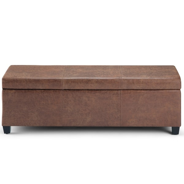 Wyndenhall Franklin 48 Inch Wide Contemporary Rectangle Storage Ottoman On Sale Overstock 6727555