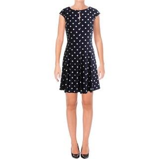 Lauren Ralph Lauren Womens Wear to Work Dress Polka Dot Sleeveless
