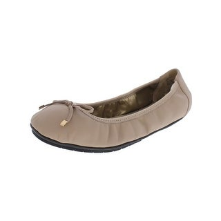 Me Too Womens Halle Ballet Flats Leather Bow
