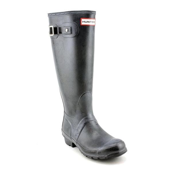 Hunter Original Tall Glossy Women Round Toe Synthetic Black Rain Boot