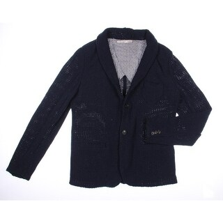 Zara Man Mens Solid Knit Cardigan Sweater - XL
