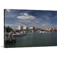 Premium Thick-Wrap Canvas entitled Boats at a harbor, Clearwater Beach, Pinellas County, Florida