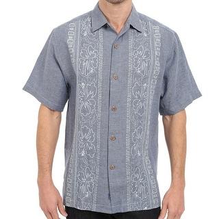 Tommy Bahama NEW Blue Mens Size Small S Hana Rue Linen Camp Shirt