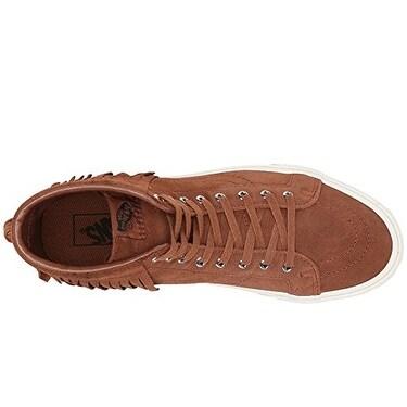 Vans Women's Sk8 Hi Moc Skate Shoes (7.5 US Women6 US Men, (Suede) BrownBlanc)