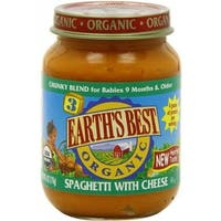 Earth's Best - Organic Junior Spaghetti With Cheese ( 12 - 6 OZ)