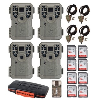 Stealth Cam 10MP Trail Game Camera 4 With Accessory Bundle