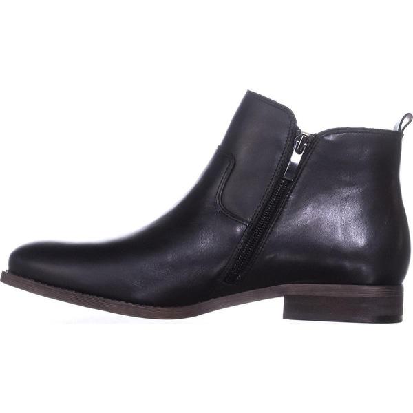 Franco Sarto Womens Kampton Leather Almond Toe Ankle Fashion Boots - 9
