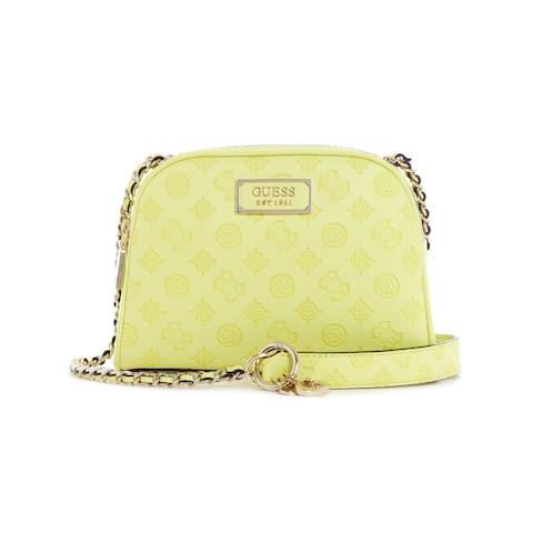 Guess Women's Logo Love Crossbody Top Zip Cross Body Bag - Lime - Green