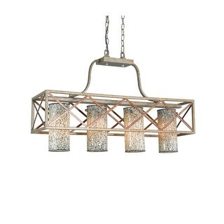 Woodbridge Lighting 12626VIN-WHT 4 Light Island Light with White Mosaic Glass from the Braid Collection
