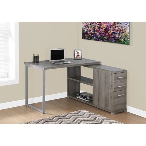 Monarch 7134 Dark Taupe Left Or Right Facing Corner Computer Desk