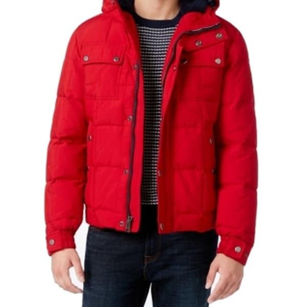 3e0999ca5836 Shop Tommy Hilfiger NEW Chili Pepper Red Mens Size Medium M Puffer ...