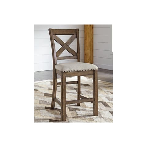 Ashley Furniture Counter Height Upholstered Barstool (4 Pack)