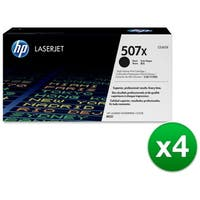 HP 507X Black Contract LaserJet Toner Cartridge (CE400X)(4-Pack)
