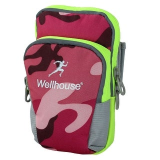 Wellhouse Authorized Phone Holder Workout Sports Arm Bag Camouflage Fuchsia