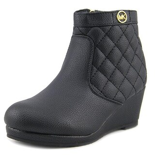 Michael Michael Kors Cate Galy Youth Round Toe Synthetic Black Boot (Option: 3)