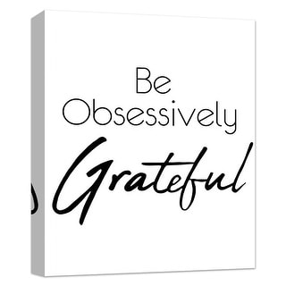 """PTM Images 9-124867  PTM Canvas Collection 10"""" x 8"""" - """"Be Grateful"""" Giclee Sayings & Quotes Art Print on Canvas"""