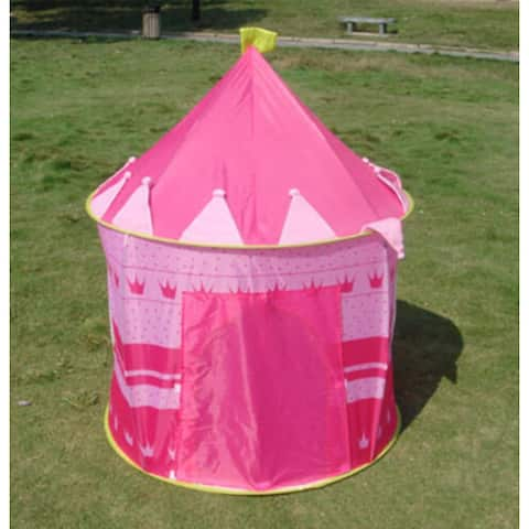Portable Blue Boys Folding Tent Play House /Pink Pop Up Play Tent Kids Girl Princess Castle Fairy Outdoor indoor House - Pink