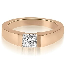 0.50 cttw. 14K Rose Gold Princess Cut Diamond solitaire Engagement Ring