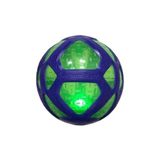 3 Purple and Green Coop Reactorz Micro Gripz Light-Up Ball Swimming Pool Toy