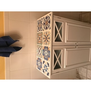Virgo White 2-door Floor Cabinet by Elegant Home Fashions