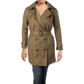 MICHAEL Michael Kors Womens Plus Trench Coat Fall Lightweight