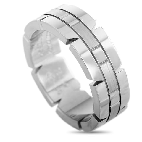 Cartier Panthère White Gold Band Ring Size 6.5