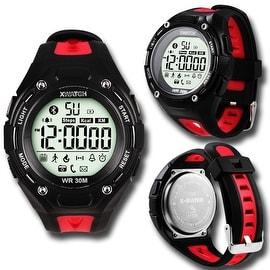 Indigi® Rugged Sports Waterproof Bluetooth 4.0 Watch w/ Pedometer + StopWatch + Smart Alarm + Remote Shutter