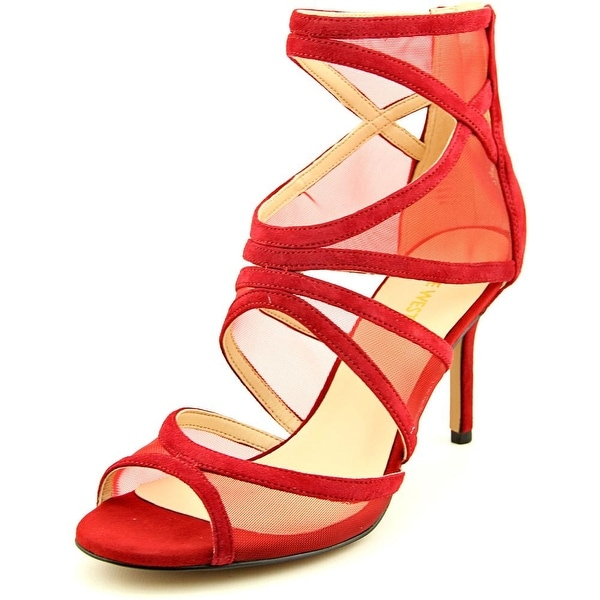 Nine West Gezzica Women  Open Toe Suede Red Sandals