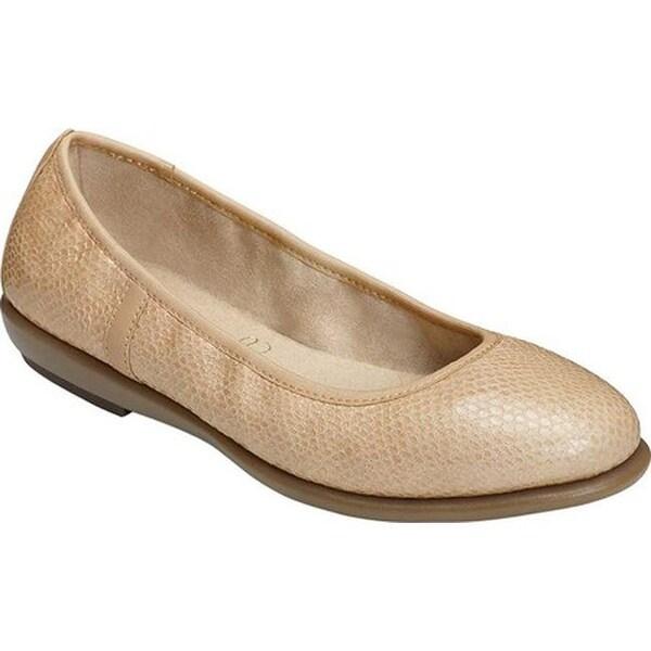 19f6a1a4804 Aerosoles Women  x27 s Better Yet Ballet Flat Light Tan Snake Leather