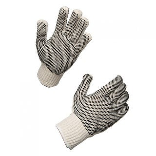 AMMEX SKDPVC String Knit Double PVC Work Gloves (Bag of 12 pairs)