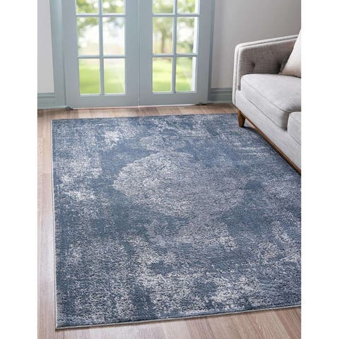 Porch & Den Renee Distressed Ornamental Medallion Area Rug