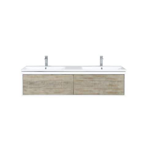 Lexora Scopi 60 inch Double Bathroom Vanity with Faucet