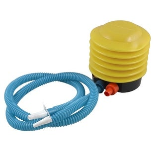 Yellow Blue Plastic Housing Foot Air Bellow Pump Aerate for Yoga Balls