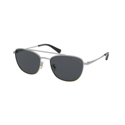 Coach HC7107 9005T3 55 Shiny Light Gold/rose Gold Woman Rectangle Sunglasses