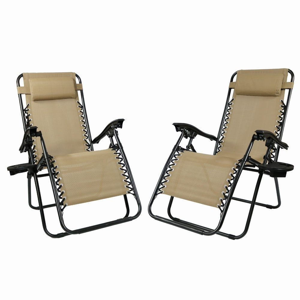 Sunnydaze Zero Gravity Lounge Chair with Pillow and Cup Holder, Multiple Colors Available - Thumbnail 28