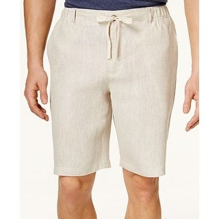 Tasso Elba Drawstring Shorts Natural Khaki Mens Size XL