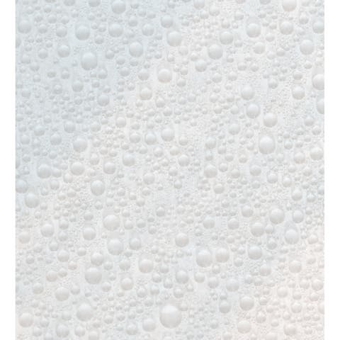 "Brewster TFAB10489 Fablon Two Piece 26 1/2"" Wide Vinyl Waterdrop Self Adhesive Window Film Set"