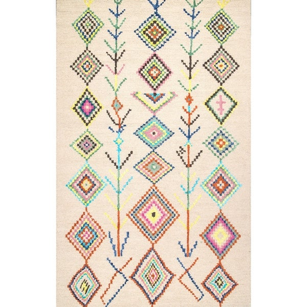 The Curated Nomad Escolta Hand-tufted Wool Moroccan Triangle Area Rug
