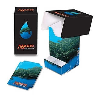 Ultra Pro Mana 5 Unhinged Island Full View Deck Box with Tray for Magic