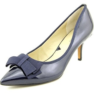Adrienne Vittadini Selby Women Pointed Toe Patent Leather Blue Heels