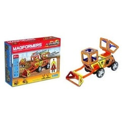 Magformers XL Cruisers Magnetic 37 Piece Construction Vehicle Set
