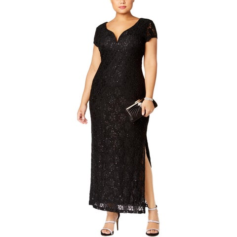 Connected Apparel Womens Plus Evening Dress Lace Formal