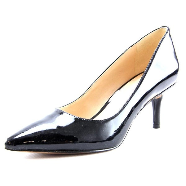 Nine West Margot Women Pointed Toe Patent Leather Black Heels