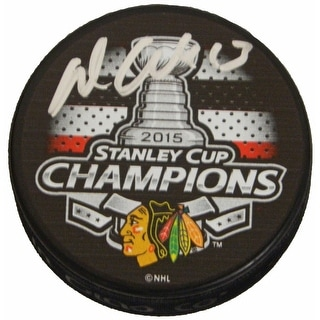 Daniel Carcillo Signed Chicago Blackhawks 2015 Stanley Cup Champs Logo Hockey Puck